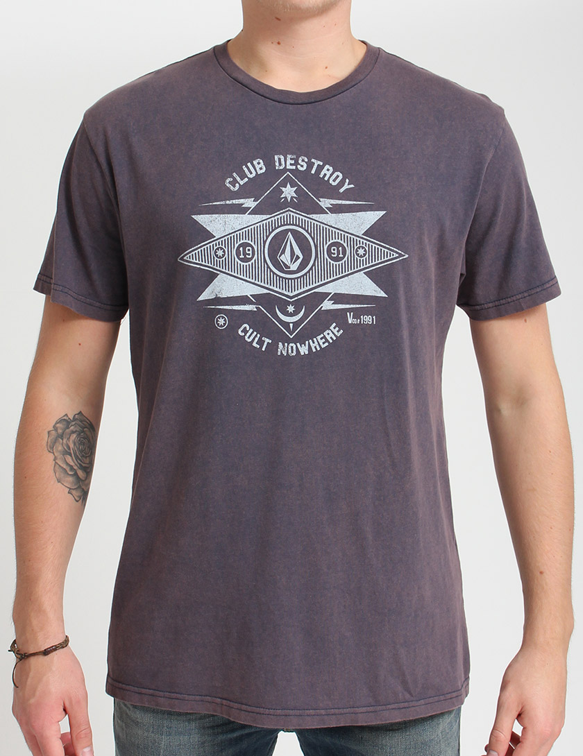 dc722a1fe7bd Pánské tričko Volcom Club Nowhere T shirt - Vintage Navy ...
