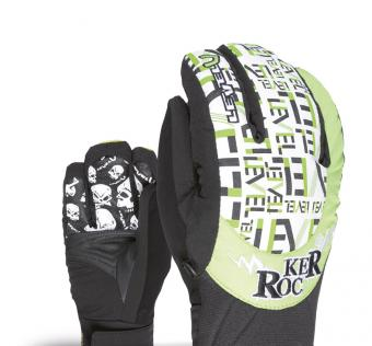 Rukavice LEVEL junior's rocker JR Green XXL
