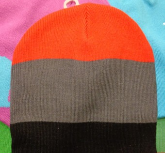 Kulich HA? Beanie 3 Striped black/grey/red