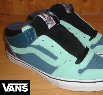 Boty VANS / TNT 2 Mid - Skateboard Shoes - Seafoam / Deep Sea / Black - 10 UK / 11 US