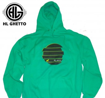 Mikina HL Ghetto - Wolf green/black