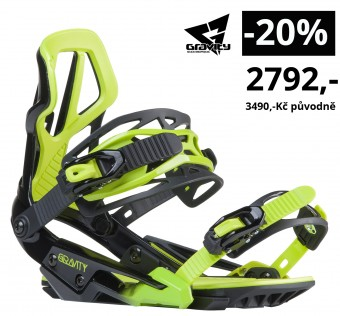 Vázání Gravity G3 black/lime