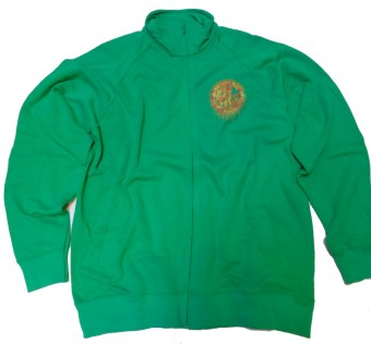 Mikina HL Ghetto crew zip - Scratch green/fire
