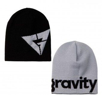 Čepice Gravity Logo reversible black/grey