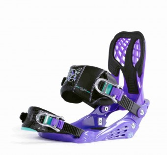 Vázání NIDECKER - Bindings Glam Purple Purple