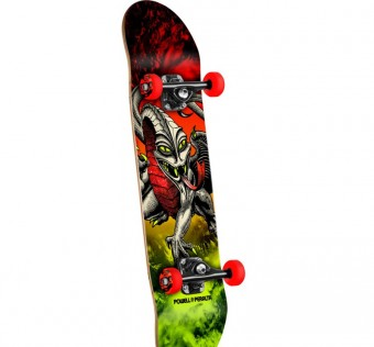 Powell Peralta Cab Dragon Storm Complete Skateboard Red/Lime - 7.75