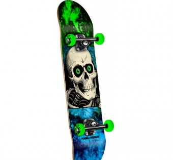 Powell Peralta Ripper Storm Complete Skateboard Green/Blue - 7.00