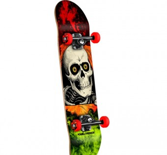 Powell Peralta Ripper Storm Complete Skateboard Red/Lime