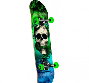 Powell Peralta Skull and Snake Storm Complete Skateboard Green/Blue - 7.625
