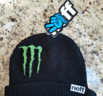 Kulich MONSTER ENERGY ATHLETE ONLY WINTER RIDER BEANIE HAT SNOWBOARD SKI NEFF