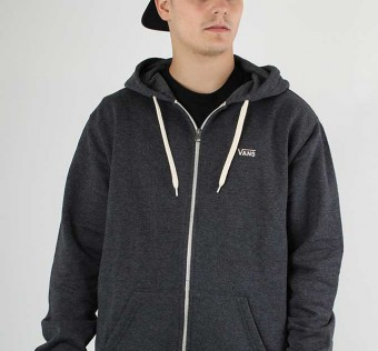MIKINA VANS CORE BASICS ZIP HOOD - black heather