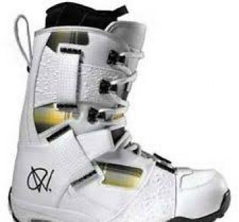 Snowboardové boty Vans Mens ANDREAS WIIG  White/Plaid Snowboard Boots F1L242 Lace Ups White