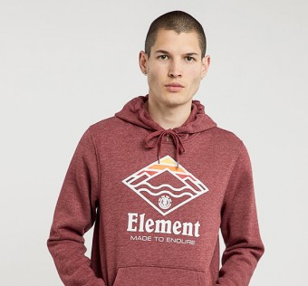 ELEMENT mikina LAYER RUBY WINE HT