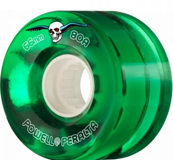 Kolečka Powell Peralta H2 CLEAR CRUISER 66MM 80A GREEN 4PK